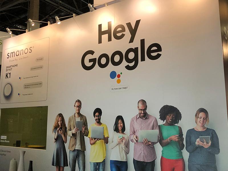 [展会]  谷歌AI智能语音助手Google Assistant和smanos智能家居在CES2018宣布交互联动